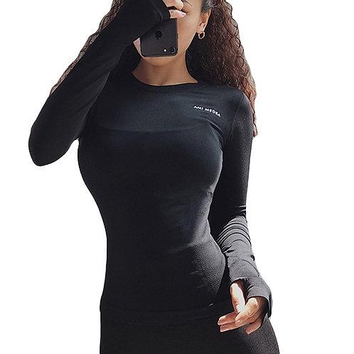 Long Sleeve Running Shirt sports top for  Fitness Yoga Running