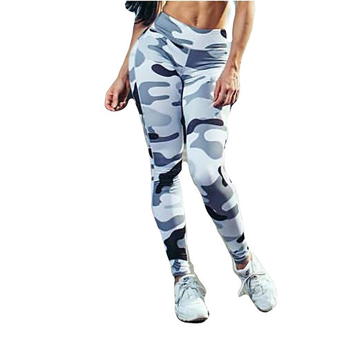 Workout Leggings for Women High Waist Pull Up Legging Camouflage Style