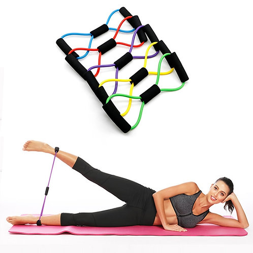 Fitness Rope Resistance Bands 8 Word Rubber Bands for Fitness