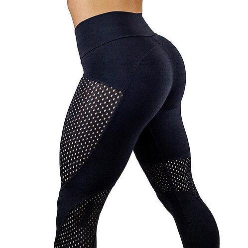 Calças de ginástica para ioga de cintura alta Fitness Legging Esporte Patchwork Jogging Leggings