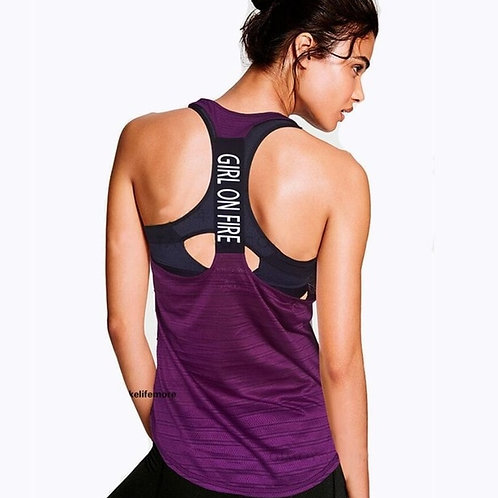 Women Sport Tank Tops for Gym Vest Top Fitness Sleeveless T Shirt
