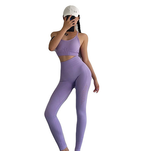 Seamless Yoga set leggings and sports bra