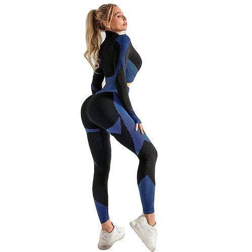 Seamless Workout Yoga Sets Female Sports Bra Gym Suit
