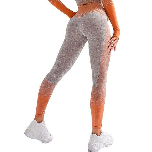 Super Stretchy  Seamless Cropped Leggings Tummy Control Yoga Pants High Waist
