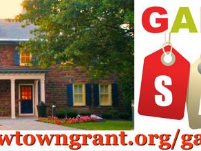 2021 Newtown Grant Annual Garage Sale!