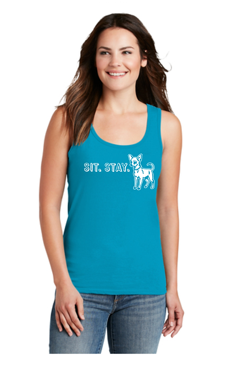 Sit. Stay. Tank Top