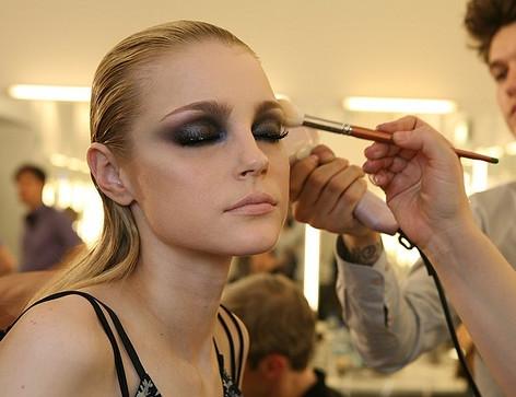 Fashion show production makeup