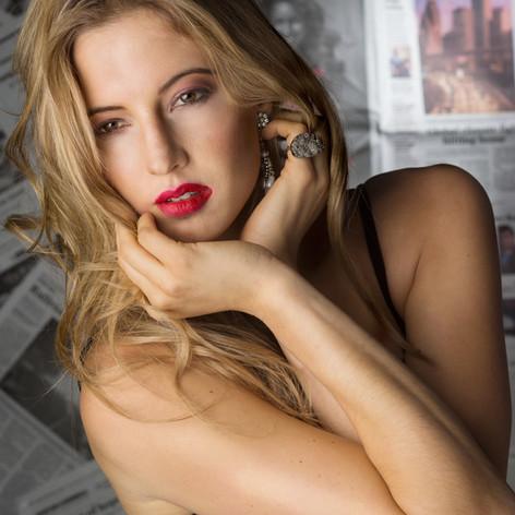 Model beauty makeup