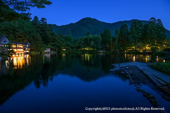 金鱗湖の夜景