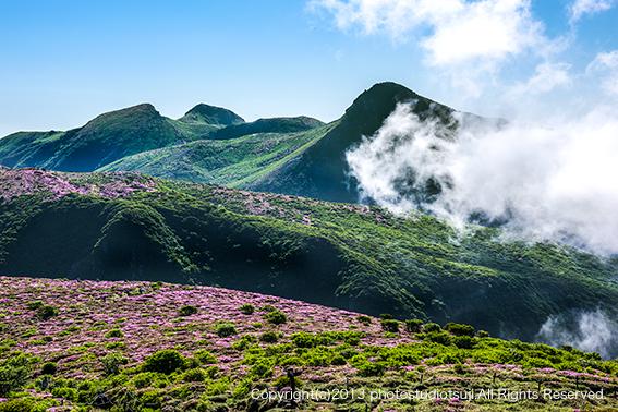 九重連山とミヤマキリシマ