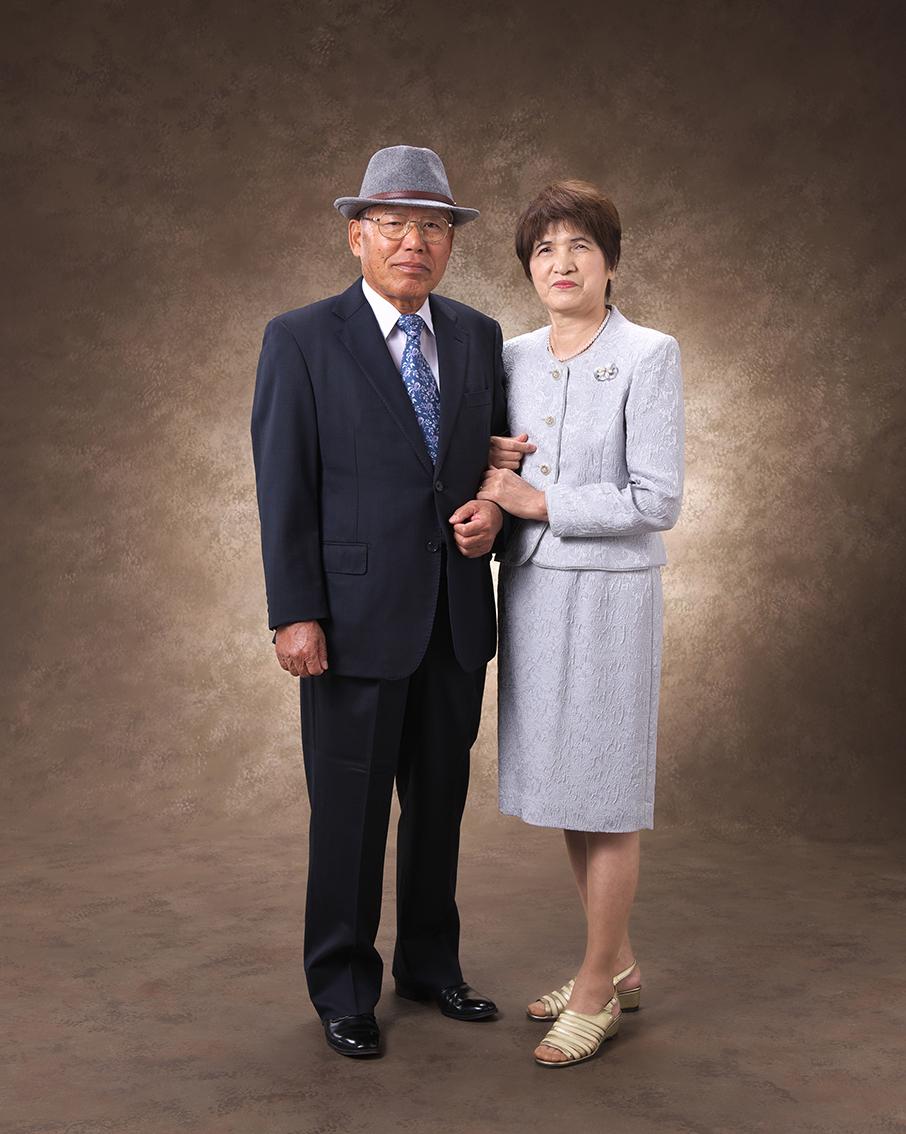 夫婦で記念撮影
