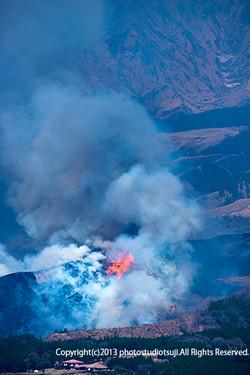 阿蘇山の野焼き