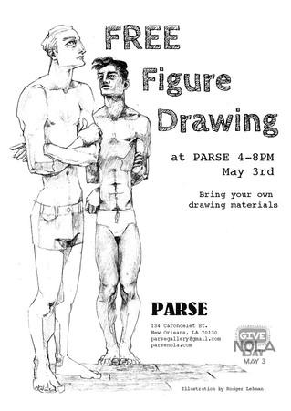 GiveNOLA Day: Free Figure Drawing at PARSE, May 3rd!