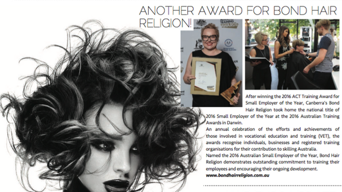 Hair Biz celebrates award win