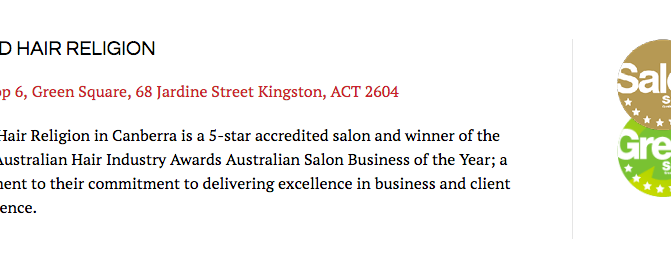 First in the ACT to get Green Accreditation!