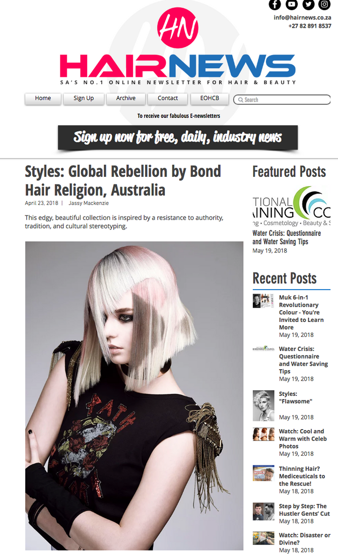 Global Rebellion makes Hair News