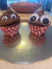 Leah's poop cakes.