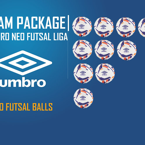 TEAM PACKAGE 10 UMBRO NEO FUTSAL LIGA BALLS