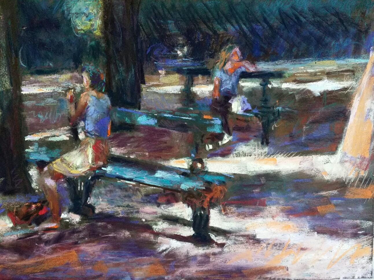 La fraîcheur du parc