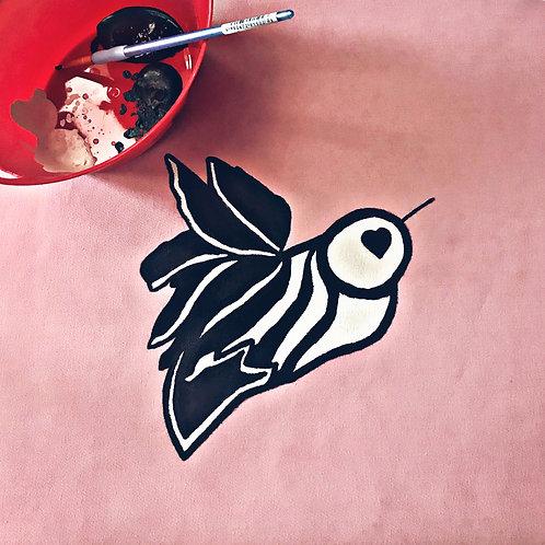 custom hand-painted fabric
