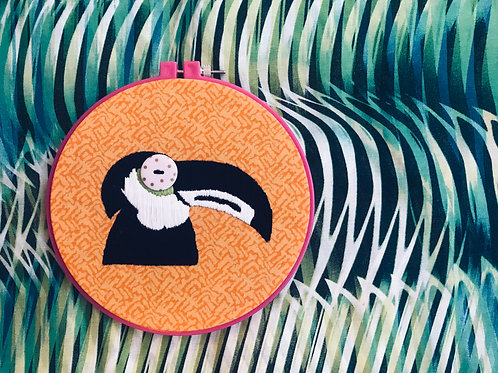toucan embroidery kit