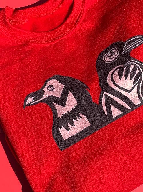 B I R D S crow sweatshirt