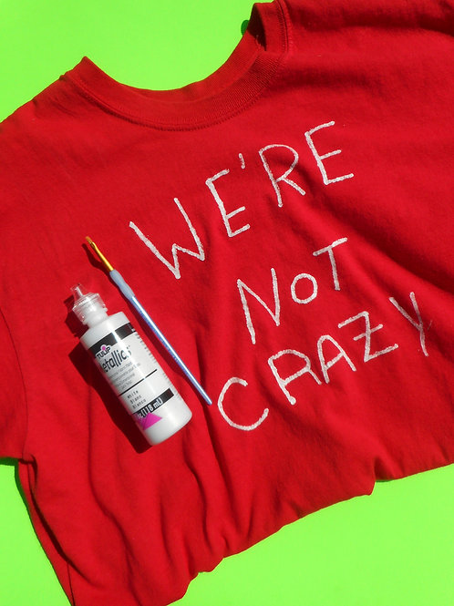we're not crazy shirt kit