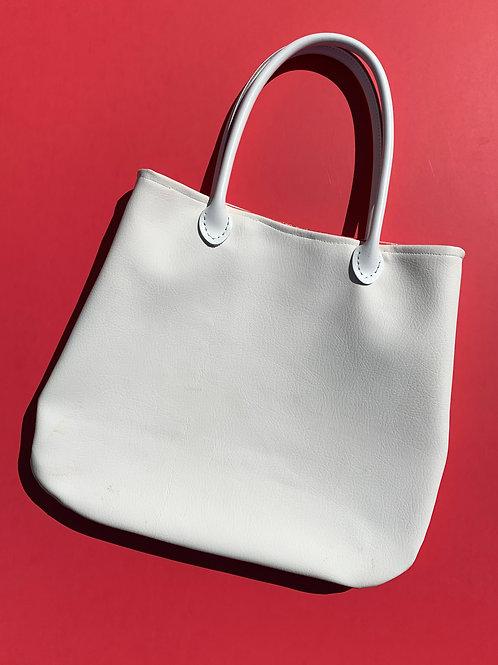 custom leather handbag with birdbrain lining