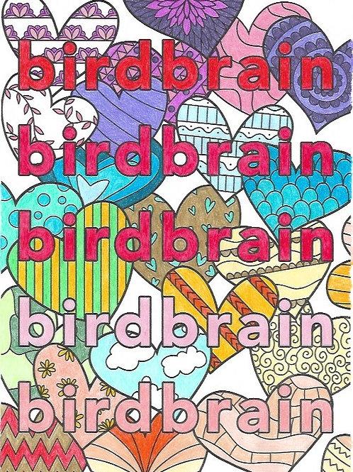 birdbrain love coloring sheet