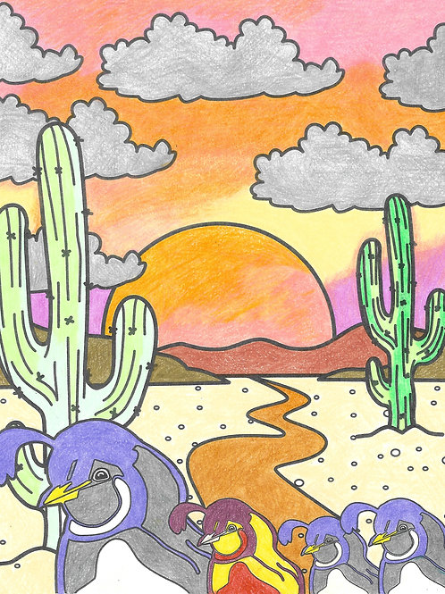 desert coloring sheet