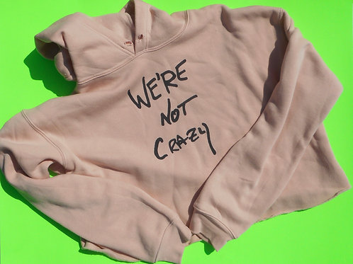 we're not crazy crop hoodie