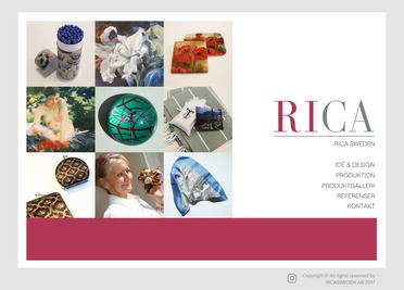 New website www.ricasweden.com designed by Jacqueline Asker