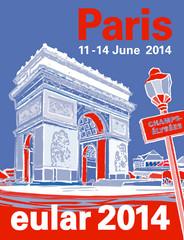 Logo eular 2014 Paris - Congress MCI Group designed by Jacqueline Asker