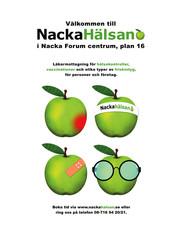 Poster - NackaHälsan, healthcare designed by Jacqueline Asker