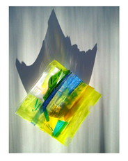 Glass tray designed by Jacqueline Asker