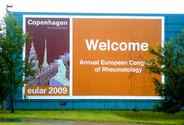 Logo eular 2009 Copenghagen - Congress MCI Group at Bella Center designed by Jacqueline Asker