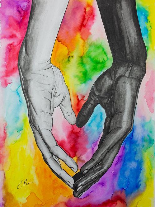 'Together' Framed Original Watercolour