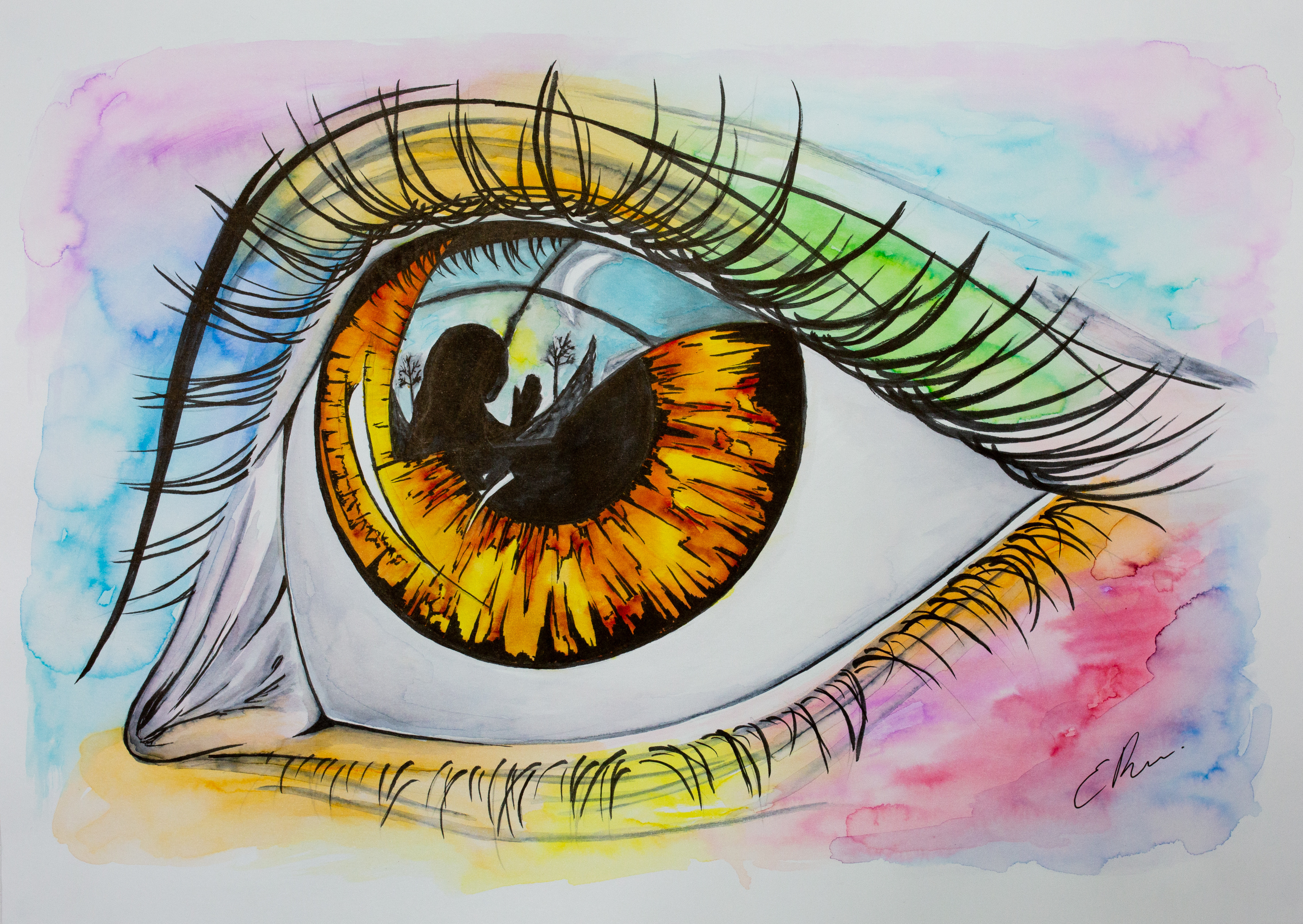 LIVE Online Painted Eyes Class