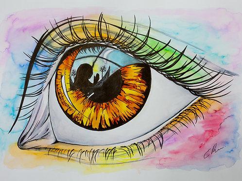 'Reflections' Original Watercolour
