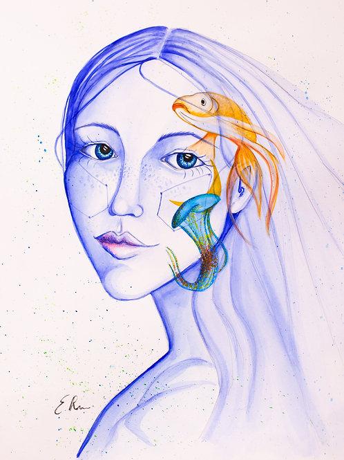 'Age of Aquarius' Original Watercolour
