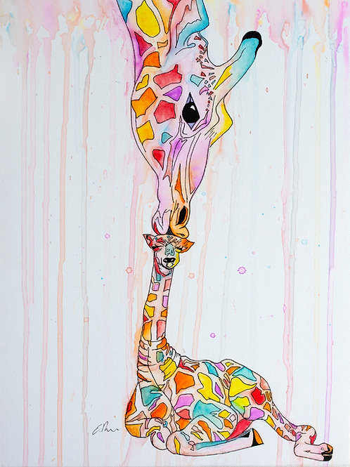 'Colourful Kisses' Original Watercolour