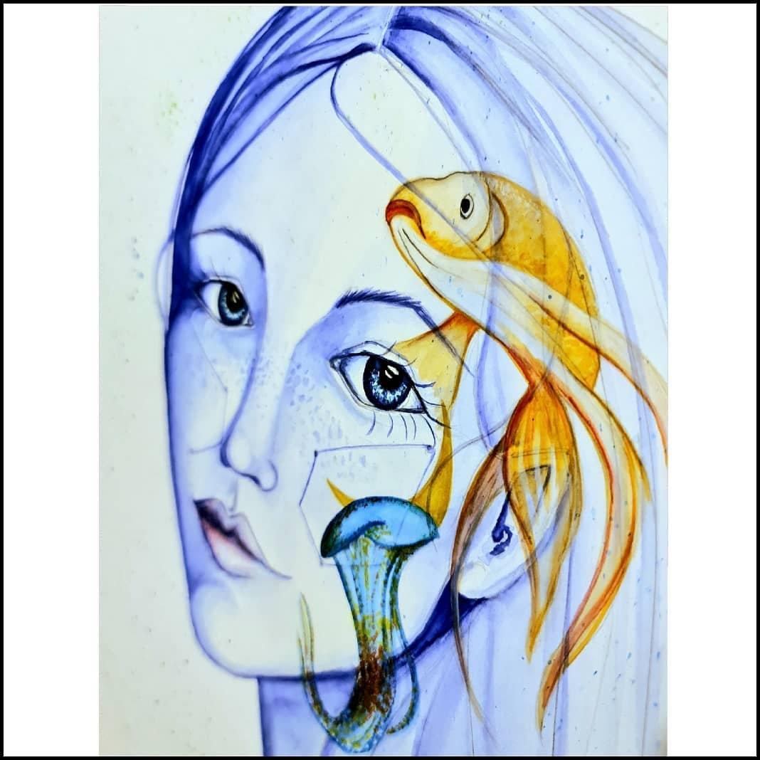 LIVE Goddess Watercolour Portraits