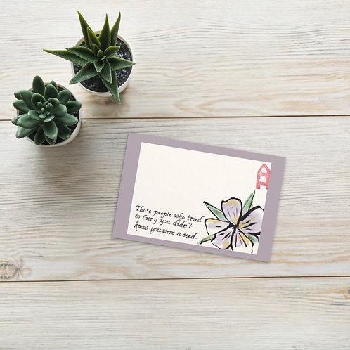 Standard Postcard - Flower