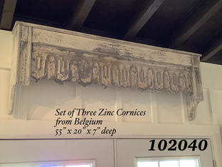 Set of 3 Zinc Cornices