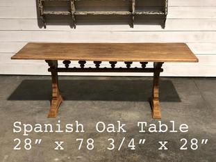 Spanish Oak Table