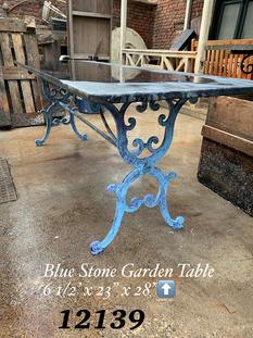 Blue Stone Garden Table
