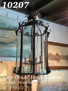 Large Ornate Antique Lantern