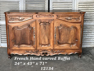 French Hand Carved Buffet