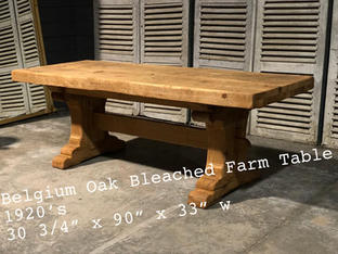 Belgium Oak Bleached Farm Table