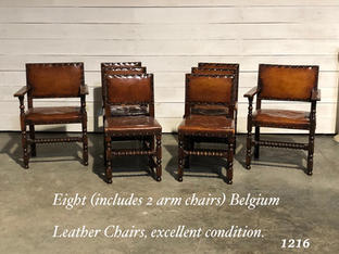 Eight Leather Chairs